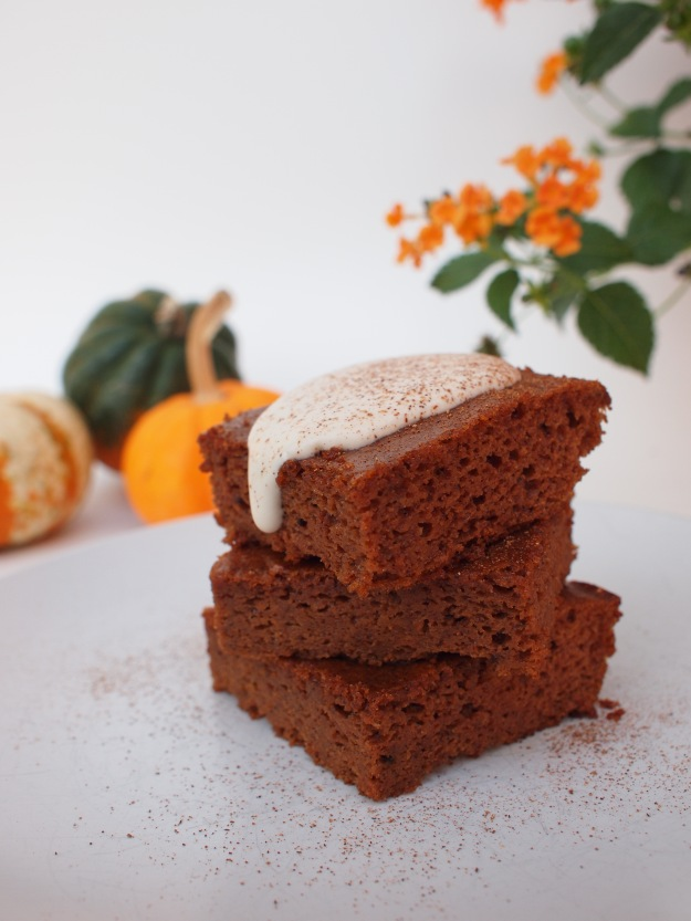 pumpkin bars with spiced whipped cream | bloom & nourish
