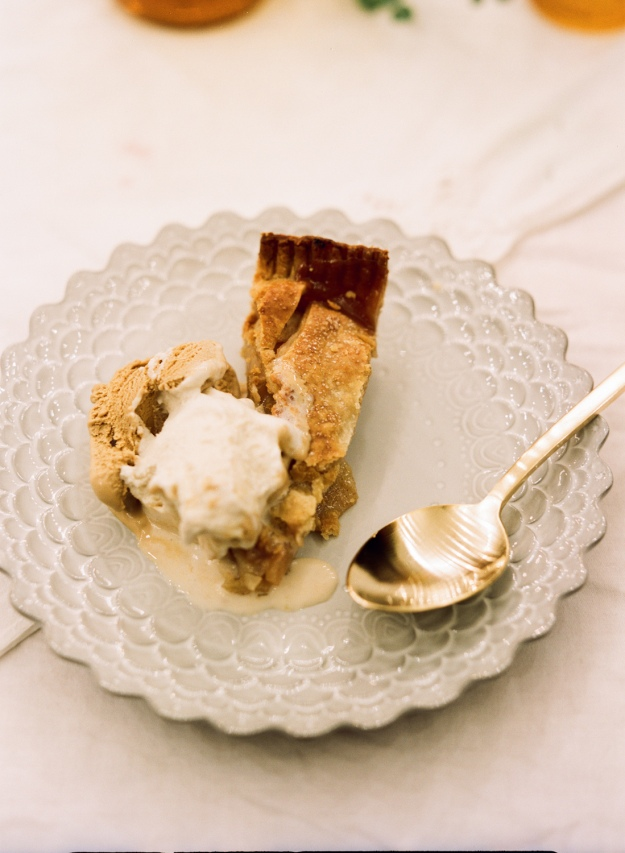 bourbon apple pie with salted caramel gelato | bloom & nourish