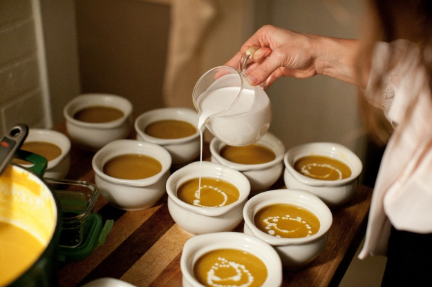 butternut squash soup with crispy sage | bloom & nourish