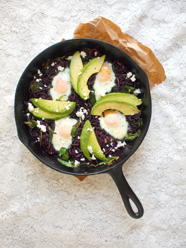chipotle (purple!) sweet potato breakfast skillet | bloom & nourish